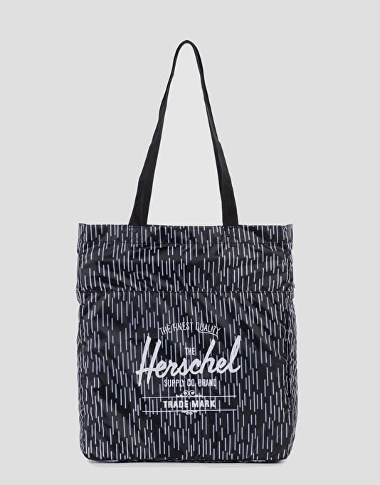 Herschel Supply Co. Packable Tote Bag - Black/White Rain Camo