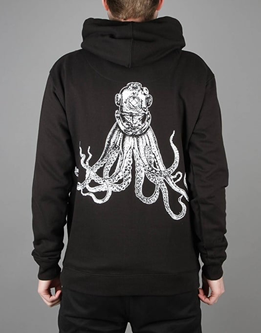 Scarred For Life Octohelmet Pullover Hoodie - Black