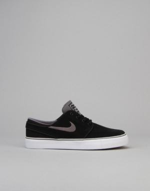 Nike SB Stefan Janoski Boys Skate Shoes - Black/Light Graphite/Gum