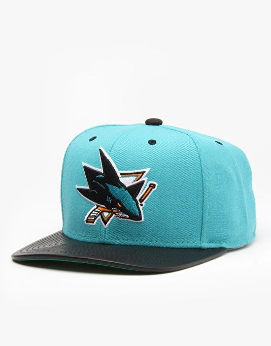 Mitchell & Ness NHL San Jose Sharks Colt Snapback Cap - Turquoise