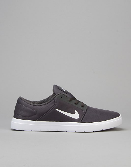 Nike SB Portmore Ultralight Renew Skate Shoes - Dark Grey/White