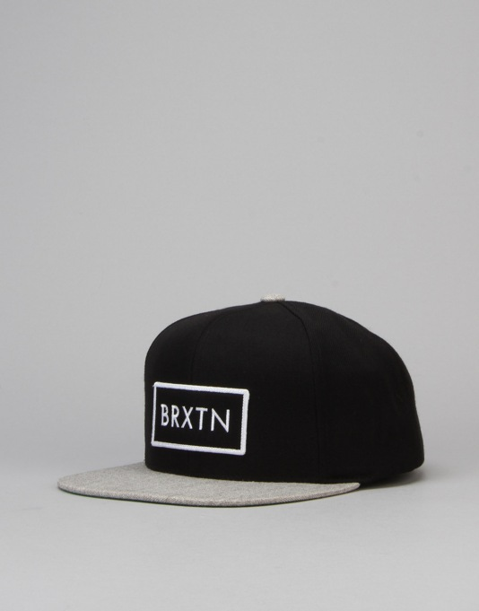 Brixton Rift Snapback Cap - Black/Heather Grey