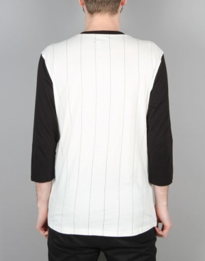 Emerica Hardball Raglan T-Shirt - White/Black