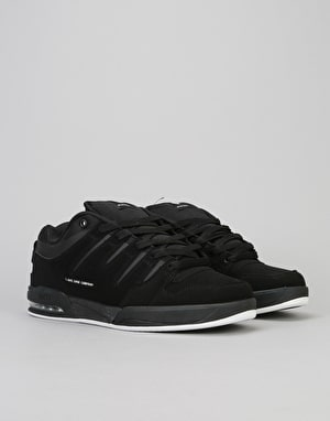 DVS Tycho Skate Shoes - Black/White Nubuck