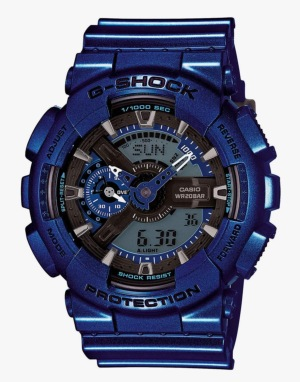 G-Shock GA-110NM-2A Watch - Neo Metallic Blue
