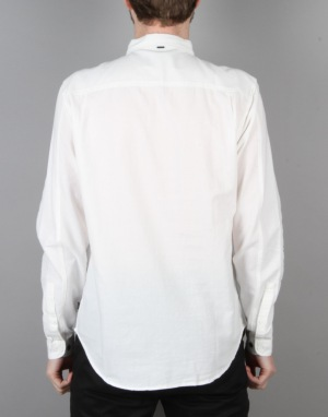 Globe Goodstock Oxford L/S Shirt - Bone