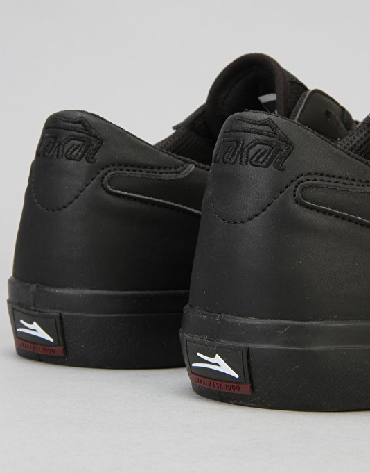 Lakai Manchester Skate Shoes - Black/Black