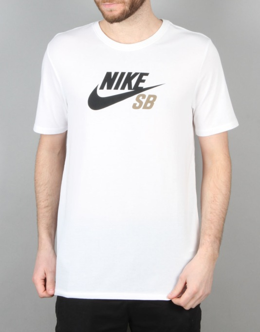 Nike SB Dri-FIT Icon Logo T-Shirt - White/White/Khaki