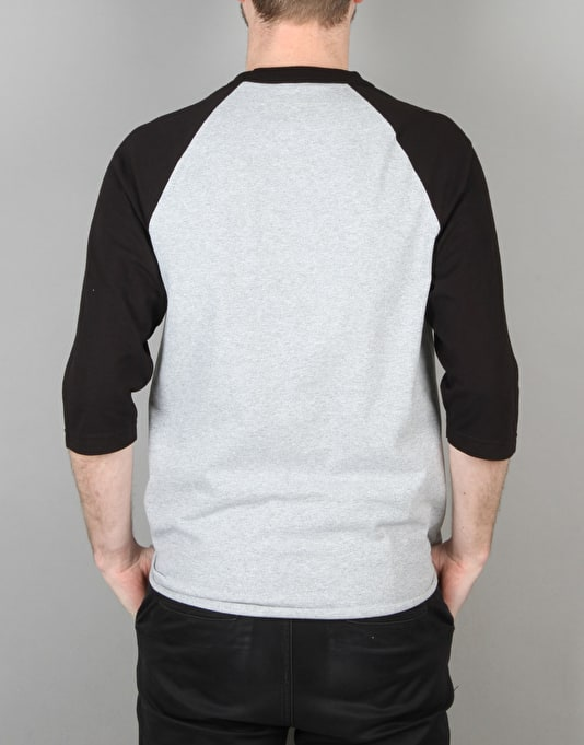 Anti Hero Skate Co. Raglan T-Shirt - Black/Athletic Heather