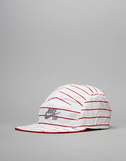 Nike SB Reversible 5 Panel Cap - Gym Red/White