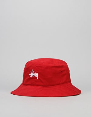Stüssy Classic Logo Bucket Hat - Red