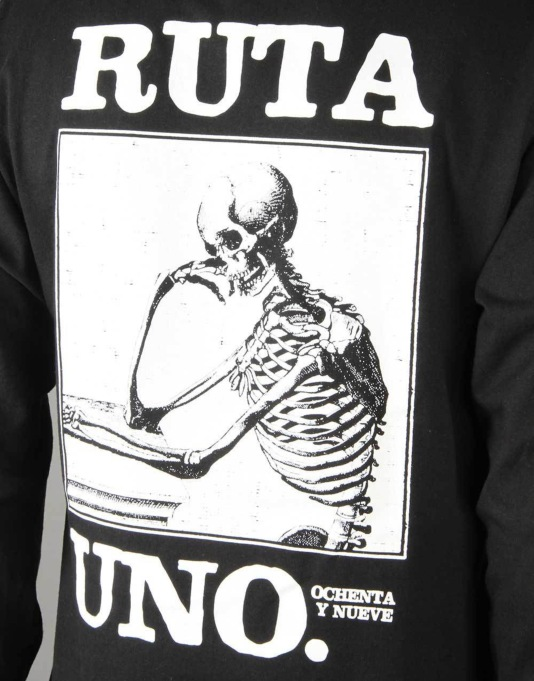 Route One Sentada La Muerte LS T-Shirt - Black