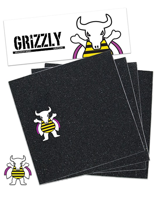 "Grizzly Biebel Pro 9"" Grip Tape Sheet"