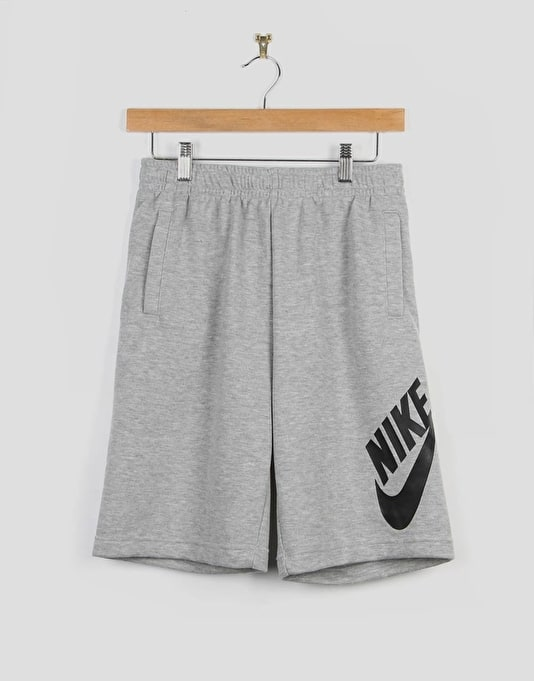 Nike SB French Terry Logo Boys Shorts - Dark Grey Heather