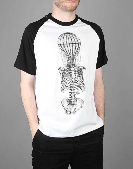 Scarred For Life Balloon Raglan T-Shirt - White/Black