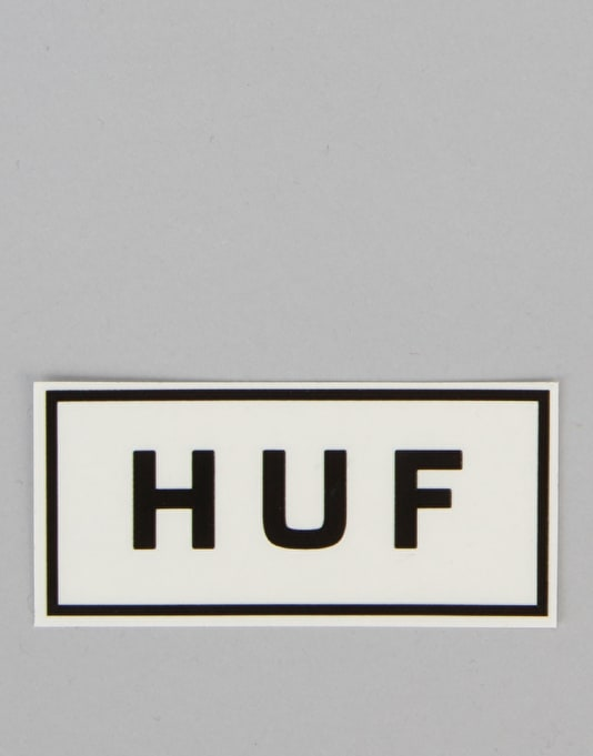 HUF Bar Logo Sticker - White/Black