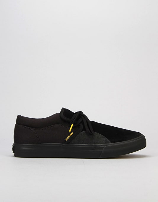 Supra Cuba Skate Shoe - Black/Yellow/TAR