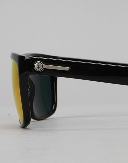 Electric Knoxville 'David G' Sunglasses - Gloss Black/Medium Grey/Fire