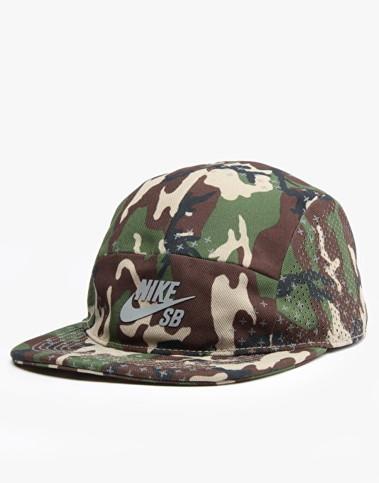 Nike SB Performance 5 Panel Cap - Khaki/Black/Reflective Silver