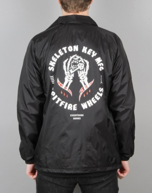 Spitfire x Skeleton Key Coaches Windbreaker Jacket - Black