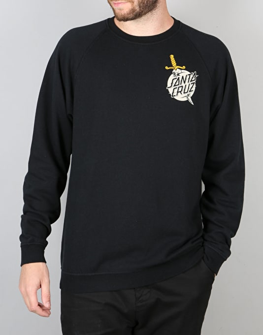 Santa Cruz Flash Hand Crewneck Sweatshirt - Black