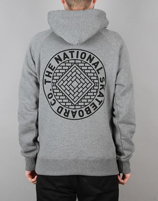 The National Skateboard Co. Union Pullover Hoodie - Heather Grey
