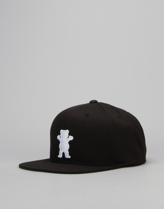 Grizzly OG Bear Snapback Cap - Black