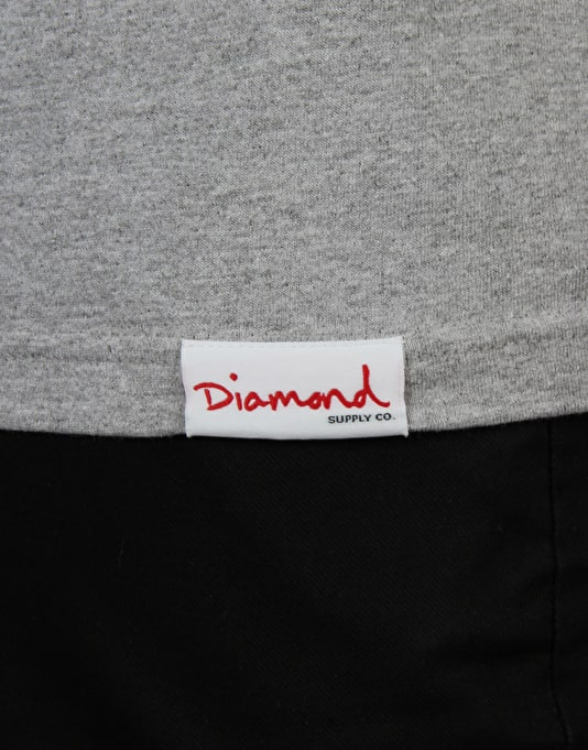 Diamond Supply Co. Ring Girl T-Shirt - Grey