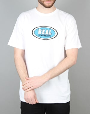 Real Oval T-Shirt - White