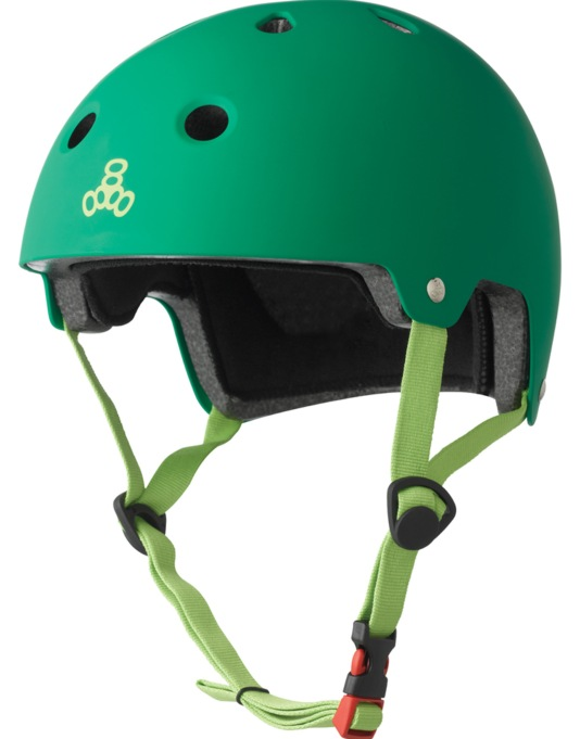 Triple 8 Brainsaver EPS Helmet - Kelly Green Rubber