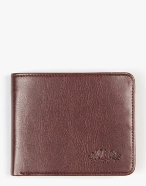 Route One Bi-Fold Wallet With Pocket - Brown