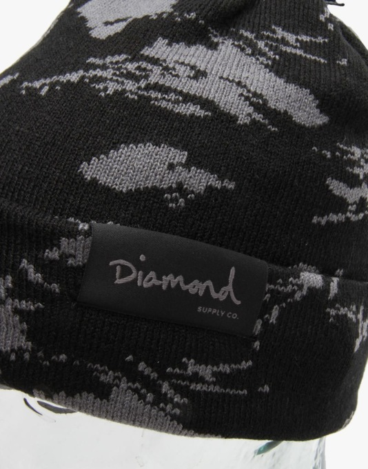 Diamond Supply Co. Tundra Pom Beanie - Black