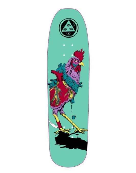Welcome Cage-Free Heart on Nimbus 3000 Team Deck - 8.5""