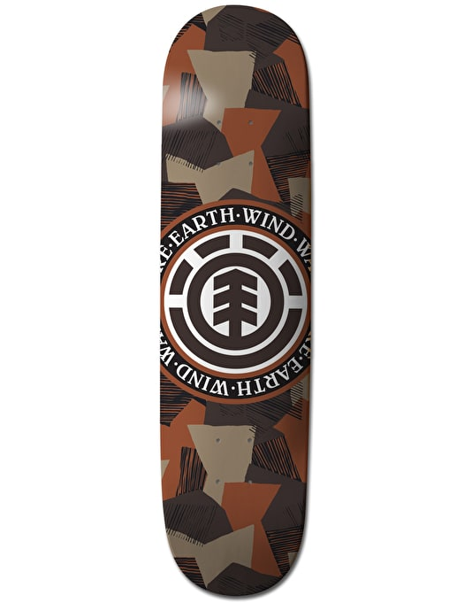 Element Swedish Camo Seal Featherlight Naturals Team Deck - 7.75""