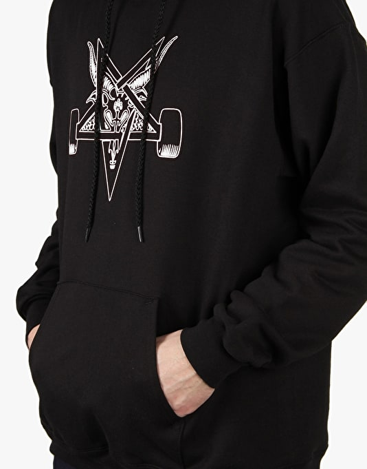 Thrasher Blackout Pullover Hoodie - Black/White