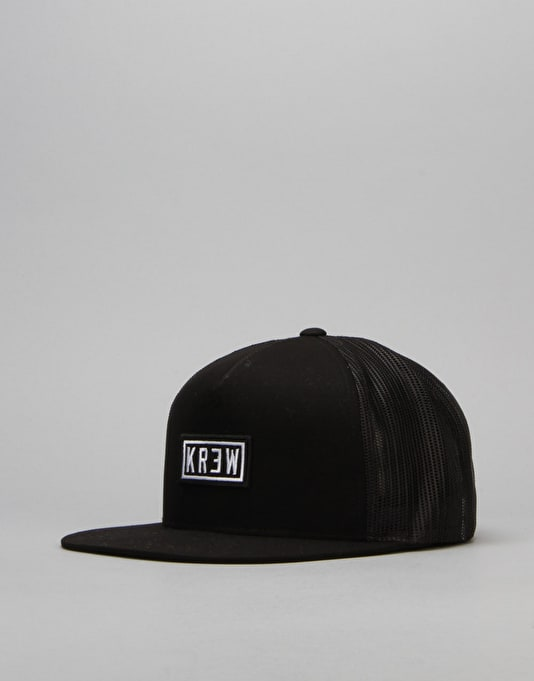 Kr3w Label Trucker Cap - Black
