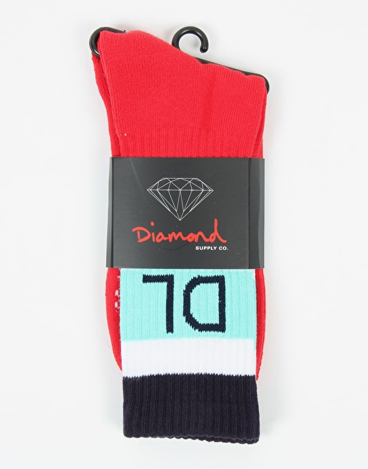 Diamond Supply Co. DI-98 Socks - Red