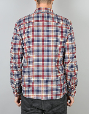 Bellfield Wisconsin L/S Shirt - Red Check
