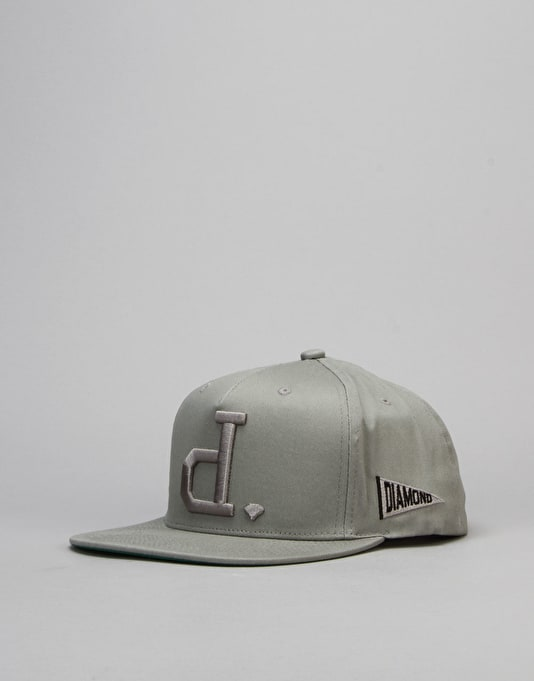 Diamond Supply Co. Un Polo Snapback Cap - Heather Grey
