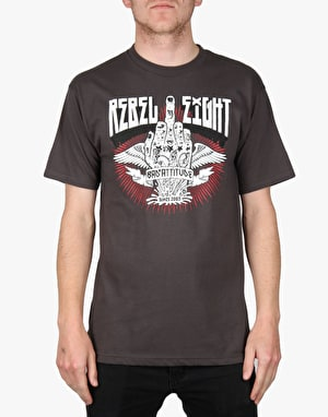 Rebel8 Bad Attitude T-Shirt - Charcoal