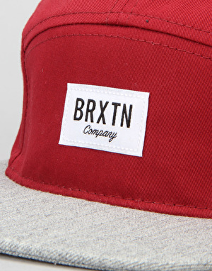 Brixton Hoover 5 Panel Cap - Burgundy/Light Heather