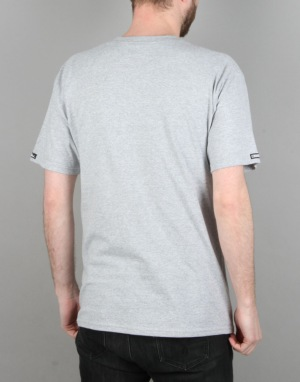 Crooks & Castles Tiger Speckle Logo T-Shirt - Heather Grey