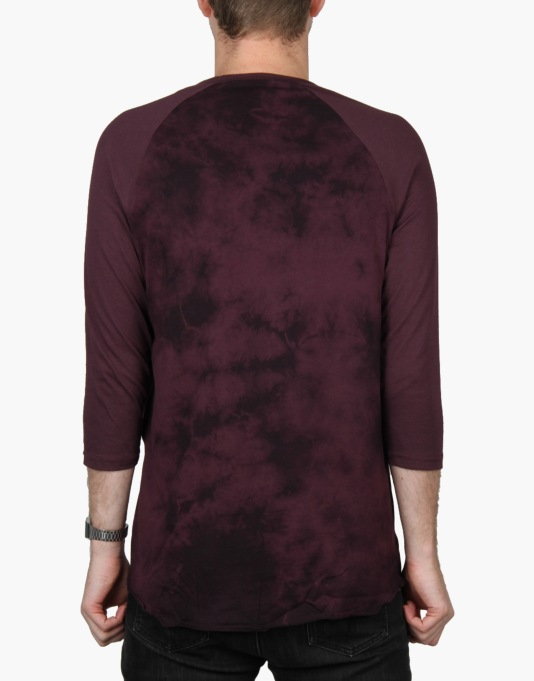 HUF Crystal Wash Script Raglan T-Shirt - Wine