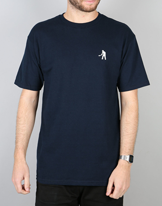 Pass Port Workers Embroidery T-Shirt - Navy