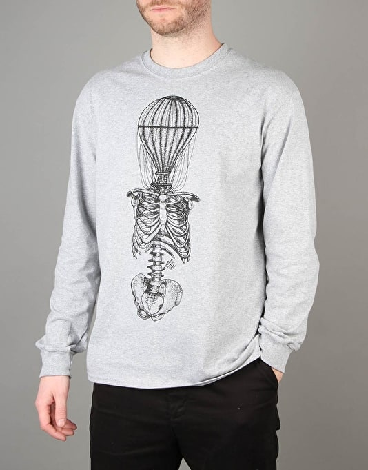 Scarred For Life Balloon LS T-Shirt - Heather Grey
