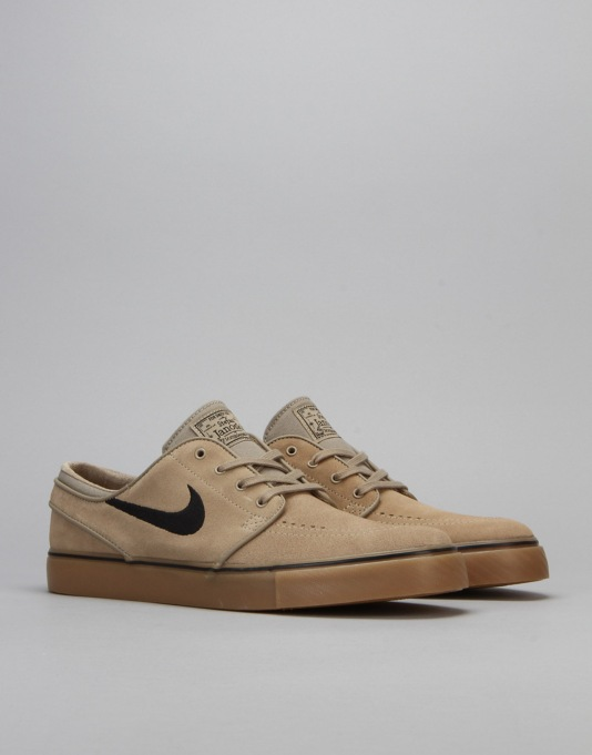 Nike SB Air Zoom Stefan Janoski Skate Shoes - Khaki/Black/Light Brown