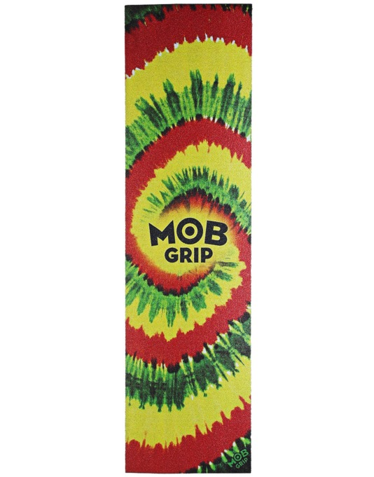 "MOB Tie Dye 9"" Graphic Grip Tape Sheet - Rasta"