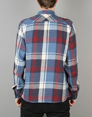 Brixton Bowsey Flannel L/S Shirt - Blue/Burgundy