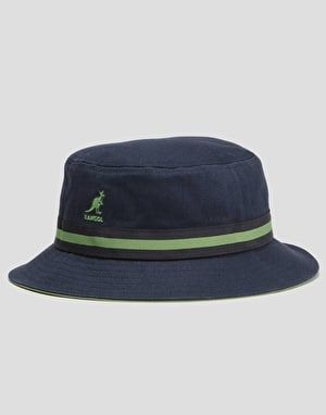 Kangol Stripe Lahinch Bucket Hat - Navy
