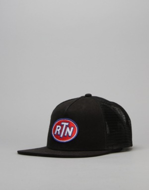 Route One Fuel Trucker Snapback Cap - Black